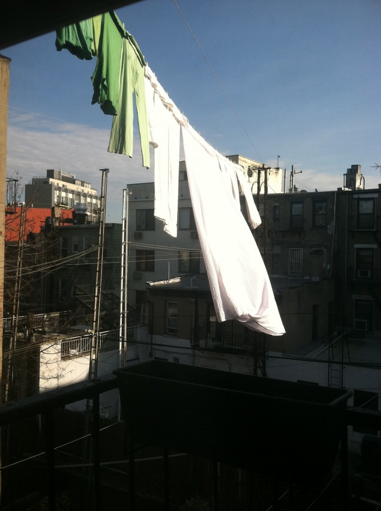 sheets flapping in the wind